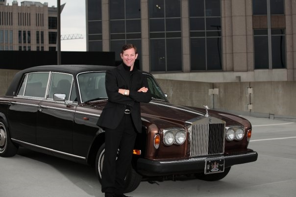 Pictured atop the Dunhill hotel in Uptown Charlotte with my 79' Silver Wraith.